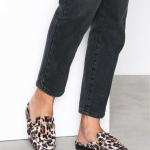 River Island Petal Backless Loafer Loaferit Leopard