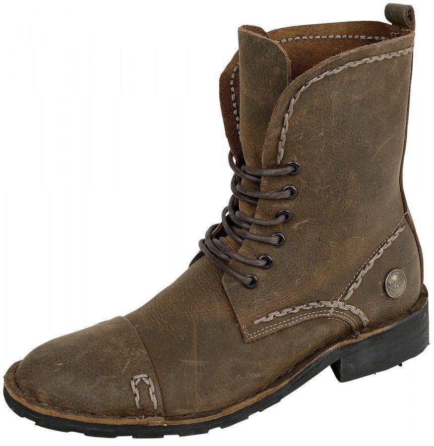 Rock Rebel by EMP Corded Leather Boot Varsikengät