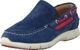 Sebago Kinsley Slip on Navy/Red