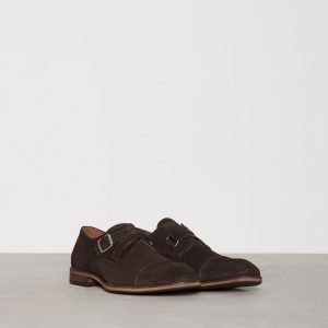Selected Homme Shdbolton New Suede Monk Shoe Pukukengät Ruskea