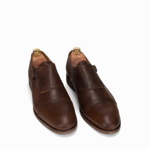Selected Homme Shdbolton Single Monk Shoe Pukukengät Ruskea