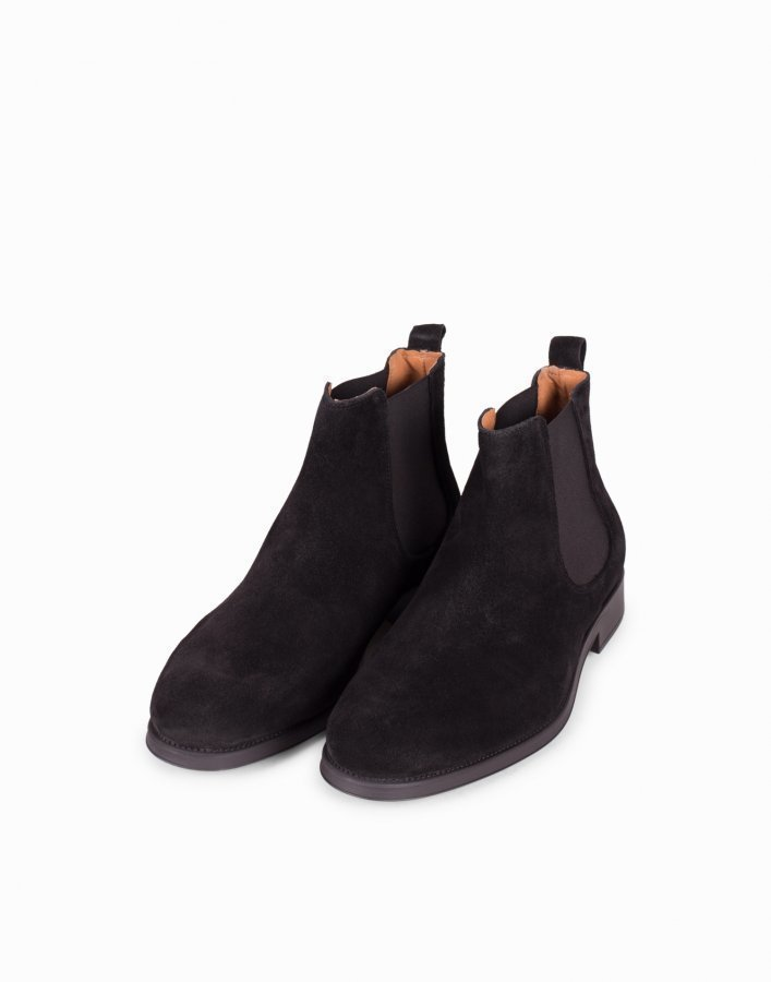 Selected Homme Shdoliver New Suede Chelsea Boot Chelsea-saappaat Musta