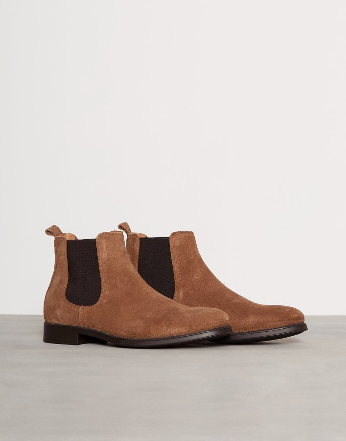 Selected Homme Shdoliver New Suede Chelsea Boot Chelsea-saappaat Vaaleanruskea