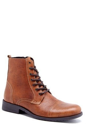 Selected Homme Shi Taylor Leather Boots Tan