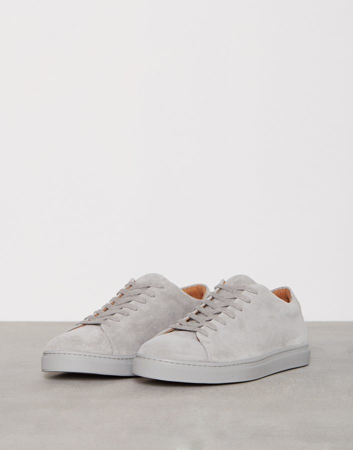 Selected Homme Shndavid New Suede Sneaker Tennarit Harmaa