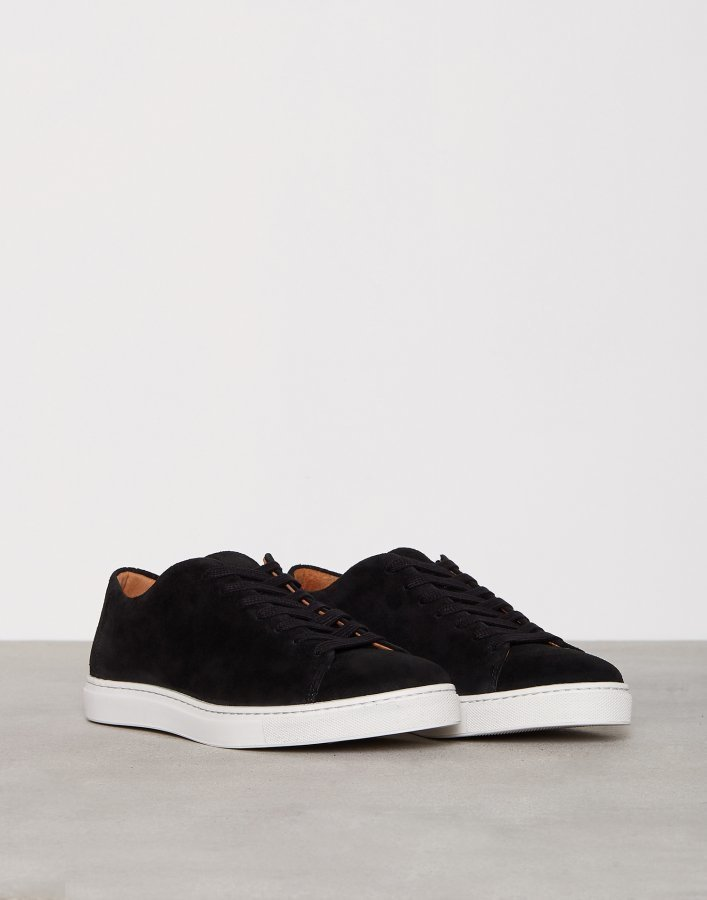 Selected Homme Shndavid New Suede Sneaker Tennarit Musta