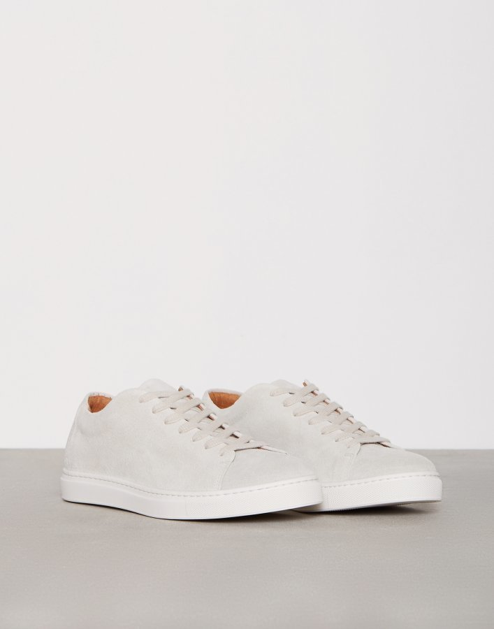 Selected Homme Shndavid New Suede Sneaker Tennarit Vaaleanharmaa