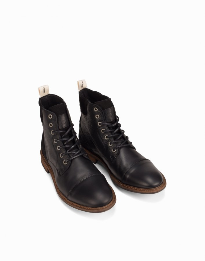 Selected Homme Shntravis Lace Boot Varsikengät Musta
