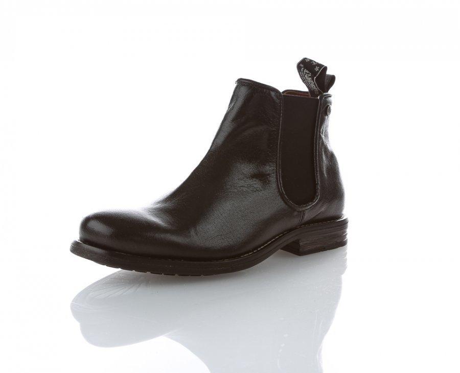Sneaky Steve Halligan Chelsea Boots Bootsit Musta
