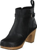 Swedish Hasbeens High Heeled jodhpur Black / Nature