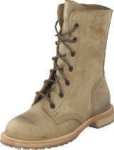 Swedish Hasbeens Military Boot Military Green Nubuck