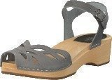 Swedish Hasbeens Ornament Clog Dark Grey Nubuck