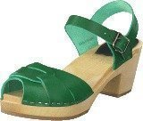 Swedish Hasbeens Peep Toe High Strong Green