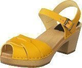 Swedish Hasbeens Peep Toe High Yellow