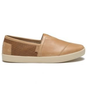 Toms Avalon Slip On Leather Light Brown