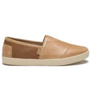 Toms Avalon Slip On Leather Light Brown