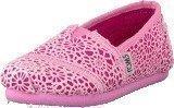 Toms Classics Jr Pink Crochet