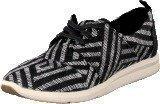 Toms Del Rey Sneaker Black tribal woven