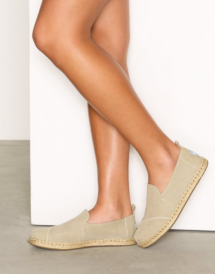 Toms Desert Washed Canvas Espadrillot Taupe