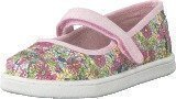 Toms Mary Jane Flat Pink Floral