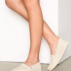 Toms Metallic Linen Espadrillot Natural Metallic