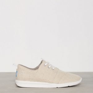 Toms Natural Metallic Linen Tennarit Natural Metallic