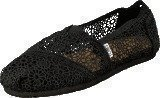 Toms Seasonal Classic Black Crochet