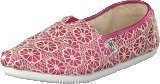 Toms Seasonal classic youth Pink crochet glitter