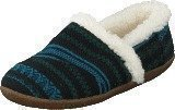 Toms Slipper Blue green wool