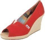 Toms Solid Canvas Wedge