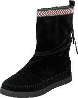 Toms Suede Trim Womens Nepal Boot Black