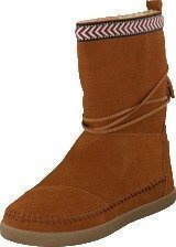 Toms Suede Trim Womens Nepal Boot Chestnut