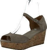 Toms Women's Platform Wedges Taupe Suede