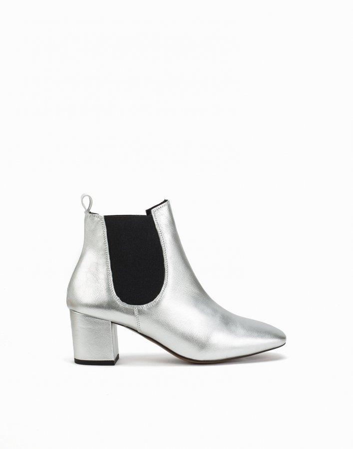 Topshop 60'S Chelsea Boots Saapikkaat Hopea