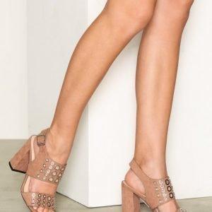 Topshop Eyelet Sandals Sandaletit Beige