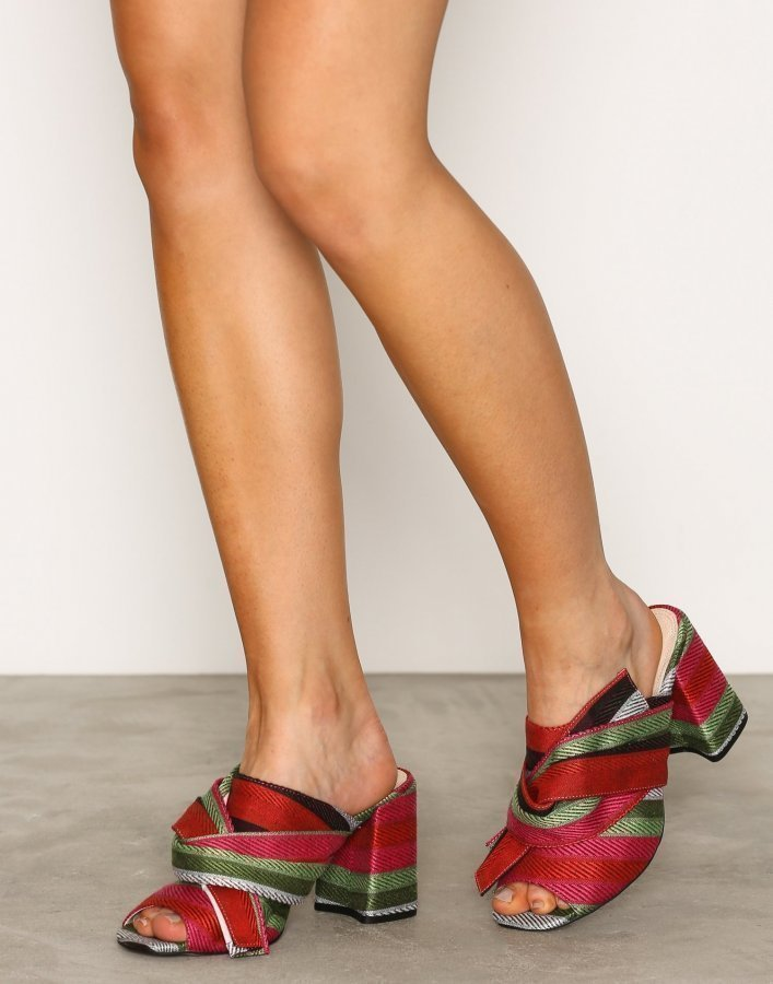 Topshop Fabric Knot Mules Sandaletit Multi