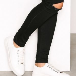 Topshop Flatform Lace Up Trainers Tennarit White