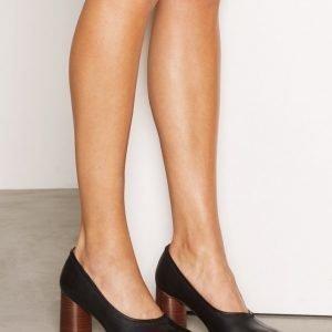 Topshop Graphic Hi Vamp Court Shoes Korkokengät Black