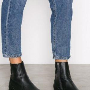 Topshop Kash Leather Sock Boots Bootsit Black