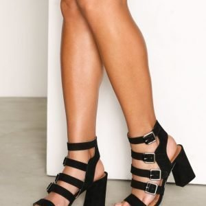 Topshop Multi Buckle Heels Sandaletit Black