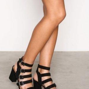 Topshop Multi Buckle Sandals Sandaletit Black