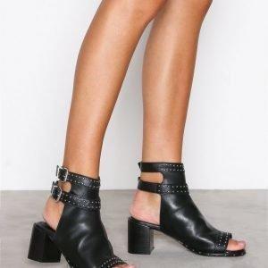 Topshop North Studded Shoe Boots Bootsit Black
