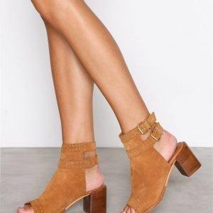 Topshop North Studded Shoe Boots Bootsit Tan