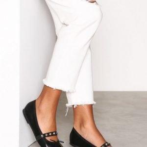 Topshop Studded Ballet Shoes Ballerinat Black