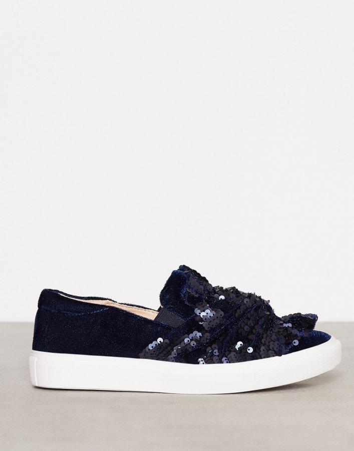 Topshop Twisted Sequin Sneaker Slip-On Kengät Navy