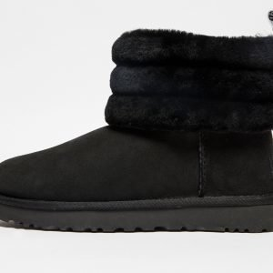 Ugg Fluff Mini Quilted Logo Musta