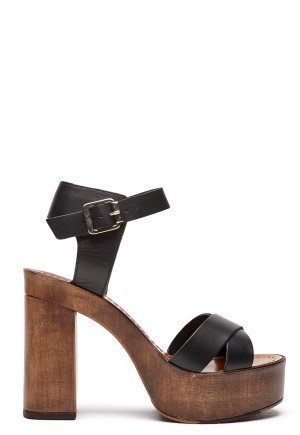 Vero Moda Bea leather sandal Black