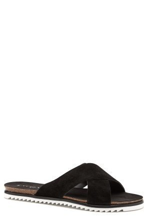 Vero Moda Emalie leather sandal Black