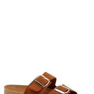 Vero Moda Julia leather sandal Cognac