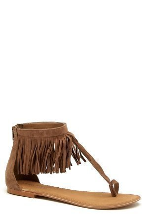 Vero Moda Kate leather sandal Cognac